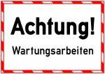 ks230 Kombi-Schild - Achtung Wartungsarbeiten - Warnzeichen - Predictive Maintenance - xxl g5538